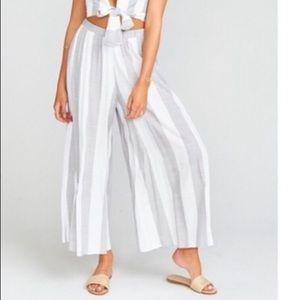 SHOW ME YOUR MUMU SMYM Grey Stripe Explorer Pant S